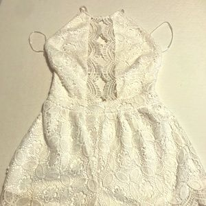 Beautiful White Lace Romper